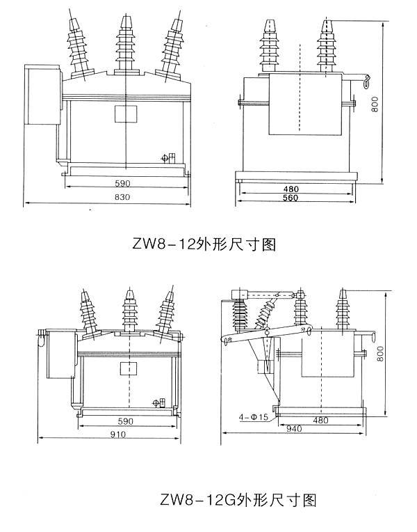 称为组合断路器,可作为分段开关使用.